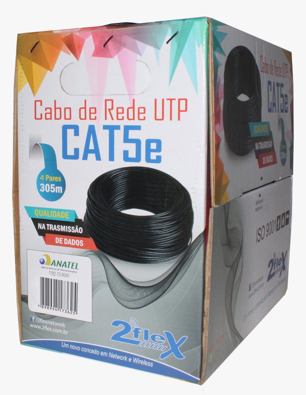 CABO DE REDE 2FLEX UTP CAT5 4P 100% COBRE  - TECTECH BRASIL COMPUTERS