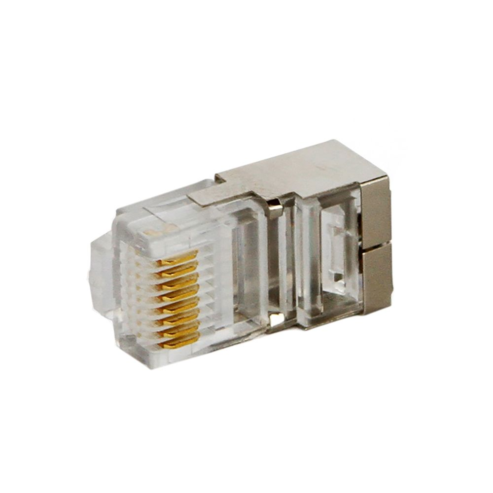 CONECTOR RJ-45 CAT5 8X8 BLINDADO PAC C/ 100 UN  - TECTECH BRASIL COMPUTERS