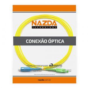 CORDÃO OPTICO SIMPLEX SC-UPC/SC-APC 0,5M MONOMODO  - TECTECH BRASIL COMPUTERS