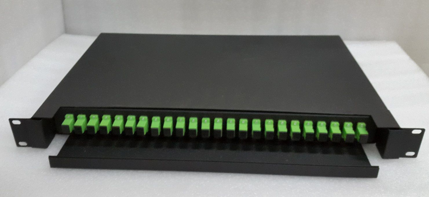 DIO DISTRIBUIDOR OTICO 24 CORES ODF FULL APC JZ-1823-APC  - TECTECH BRASIL COMPUTERS