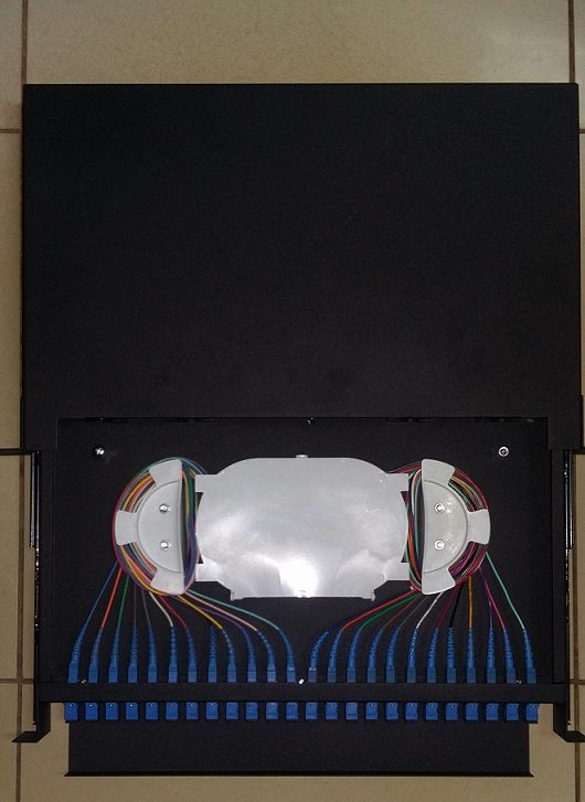 DIO DISTRIBUIDOR OTICO 24 CORES ODF FULL UPC JZ-1823  - TECTECH BRASIL COMPUTERS