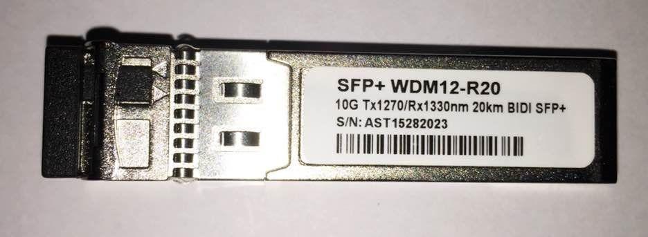 SFP+ 10G 20KM LC BIDI DDM 1270-1330NM WDM12-R20  - TECTECH BRASIL COMPUTERS