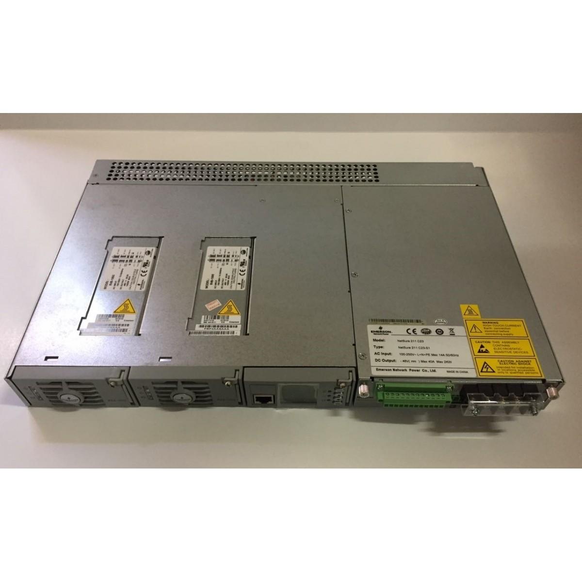 FONTE OLT EMERSON NETSURE211 C23 40AMP REDUNDANTE CHASSIS  - TECTECH BRASIL COMPUTERS