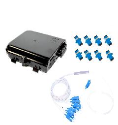 KIT CTO 1*8 + SPLITTER 1*8 UPC + 8 CONECTORES UPC (UPC)  - TECTECH BRASIL COMPUTERS