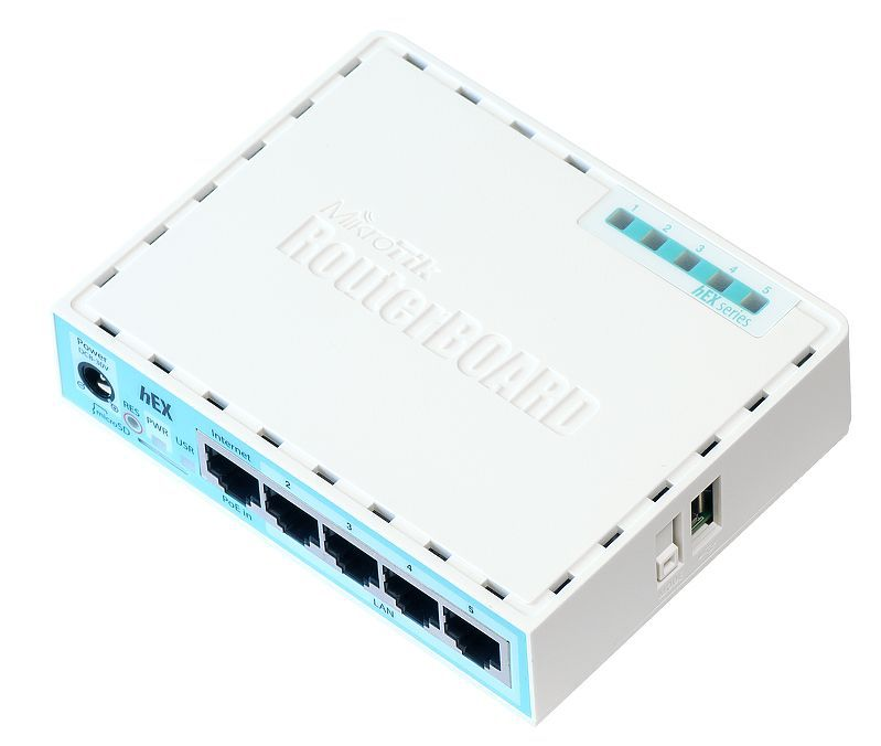 MIKROTIK- ROUTERBOARD RB 750GR3 HEX 880MHZ 256MB L4  - TECTECH BRASIL COMPUTERS
