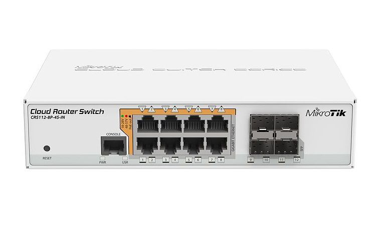 MIKROTIK SMART SWITCH CRS112-8P-4S-IN L5  - TECTECH BRASIL COMPUTERS