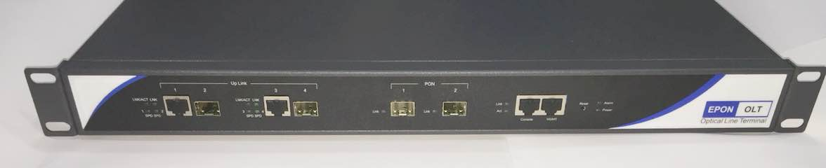 OLT EPON 1U 2*PON+2*GE FD1002S (UPLINK)  - TECTECH BRASIL COMPUTERS