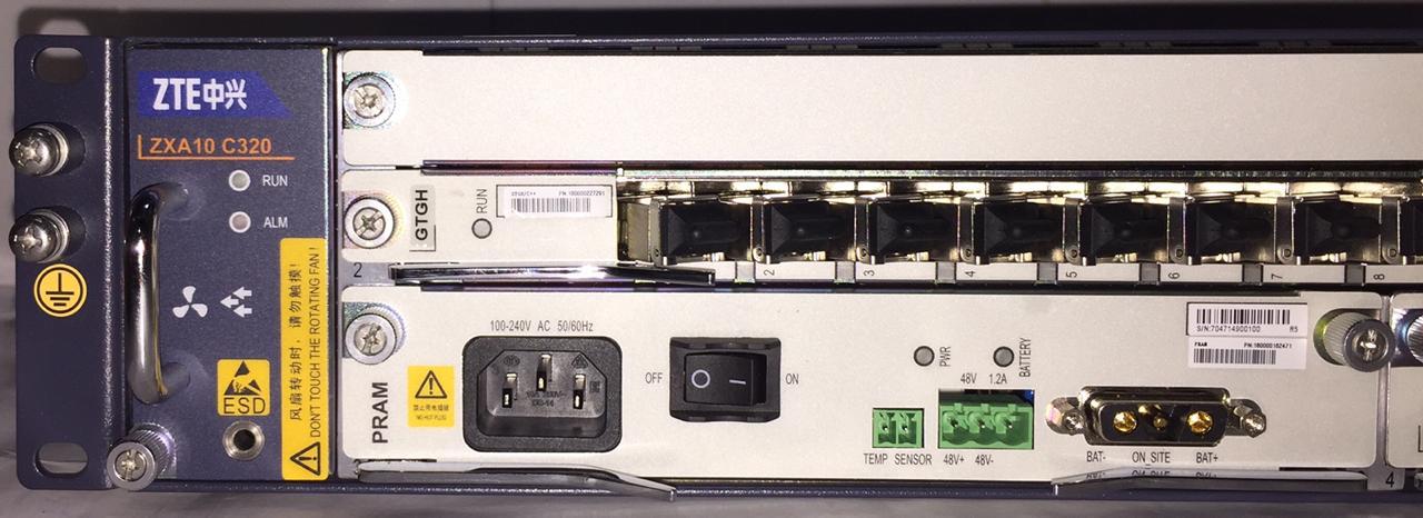 "OLT ZTE C320 02U 19"" 10G UPLINK 16 GTGH SMXA/PRAM AC  - TECTECH BRASIL COMPUTERS"