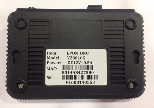 ONU EPON V2801CG 1*100/1000 LAN  - TECTECH BRASIL COMPUTERS