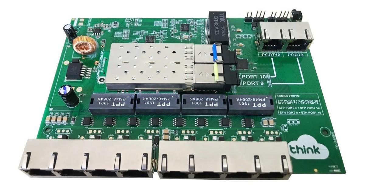 PLACA METRO POE + SFP/ETH GIGABIT  - TECTECH BRASIL COMPUTERS