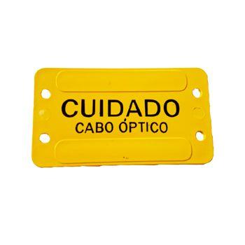 PLAQUETA DE IDENTIFICAÇÃO CABO OPTICO AMARELA   - TECTECH BRASIL COMPUTERS