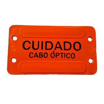 PLAQUETA DE IDENTIFICAÇÃO CABO OPTICO LARANJA   - TECTECH BRASIL COMPUTERS