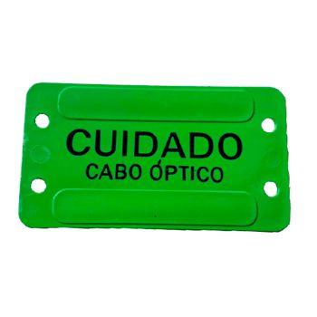 PLAQUETA DE IDENTIFICAÇÃO CABO OPTICO VERDE  - TECTECH BRASIL COMPUTERS