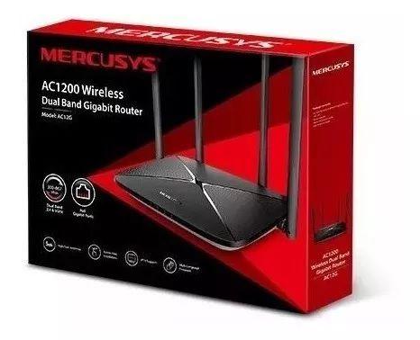 ROTEADOR MERCUSYS WIRELESS DUAL BAND GIGABIT AC1200 AC12G  - TECTECH BRASIL COMPUTERS