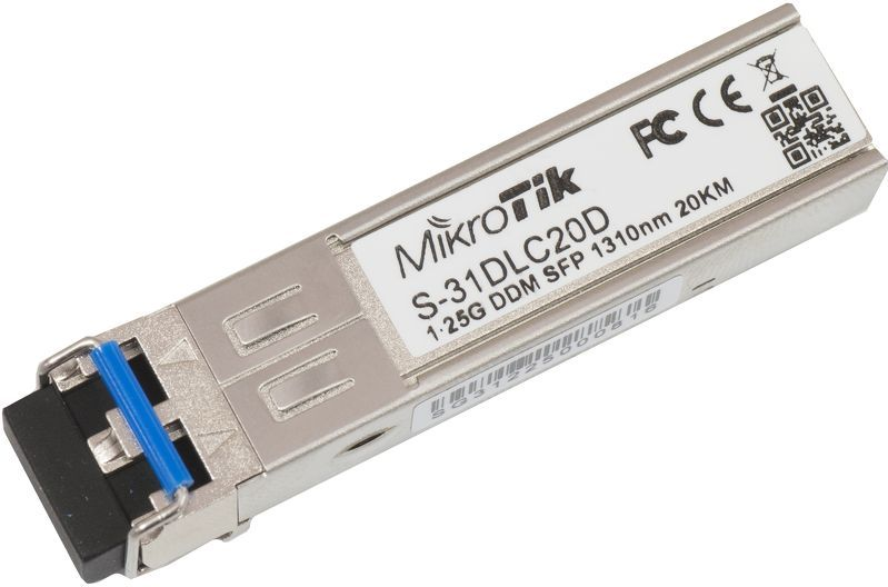 SFP MIKROTIK S-31DLC20D 1.25G SM 20KM 1310NM  - TECTECH BRASIL COMPUTERS