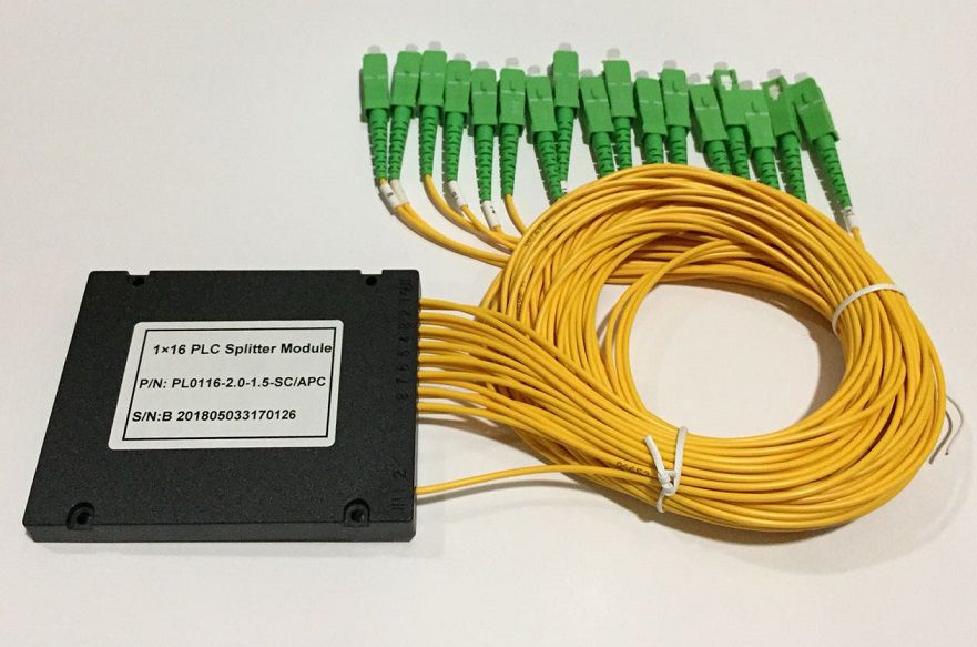 SPLITTER 1*16 2MM 1.5M SC-APC PLC  - TECTECH BRASIL COMPUTERS