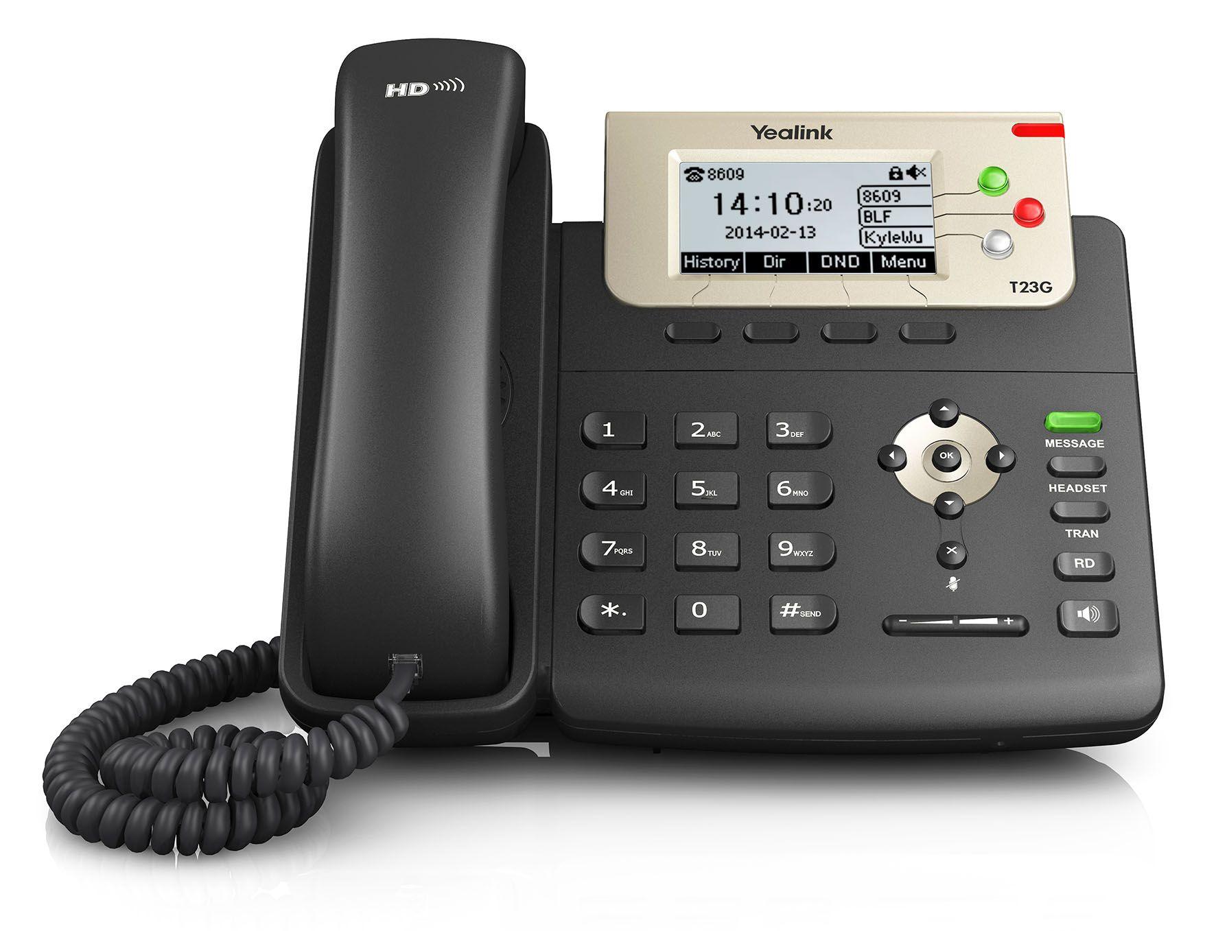 TELEFONE IP YEALINK SIP-T23G (COM POE) ENTERPRISE HD 3LINHAS  - TECTECH BRASIL COMPUTERS