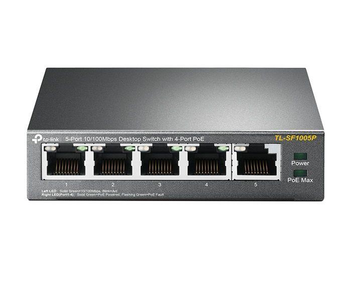 TP-LINK HUB SWITCH 05P TL-SF1005P 10/100 4P POE  - TECTECH BRASIL COMPUTERS