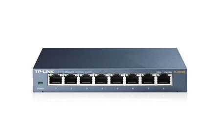 TP-LINK HUB SWITCH 08P TL-SG108 10/100/1000  - TECTECH BRASIL COMPUTERS