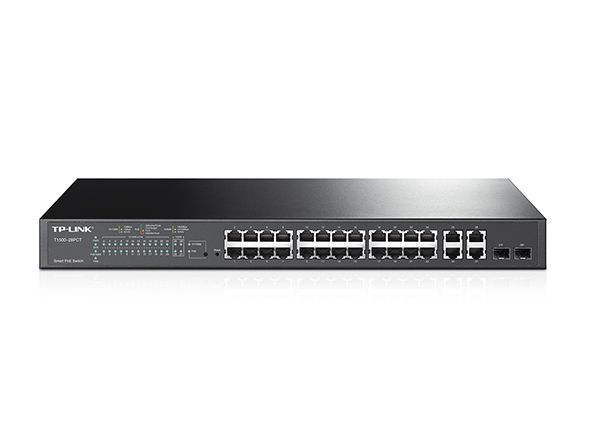 TP-LINK HUB SWITCH 24P+4G T1500-28PCT (TL-SL2428P) POE+2SFP  - TECTECH BRASIL COMPUTERS