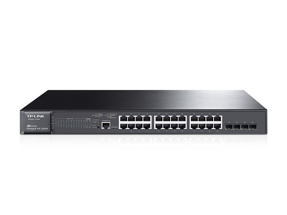TP-LINK HUB SWITCH 24P T2600G-28MPS(TL-SG3424P)4SFP POE  - TECTECH BRASIL COMPUTERS