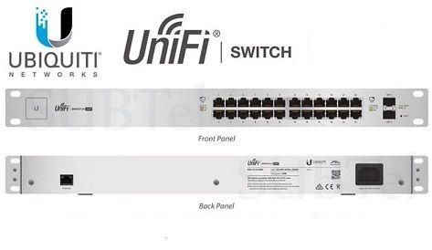 UBIQUITI SWITCH US-24-250W-BR 24-PORT POE + 2P SFP UNIFI  - TECTECH BRASIL COMPUTERS
