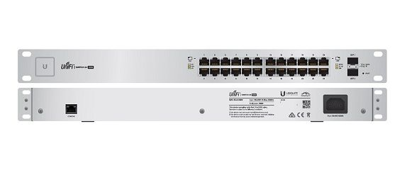 UBIQUITI SWITCH US-24-500W-BR 24-PORT POE + 2P SFP UNIFI  - TECTECH BRASIL COMPUTERS