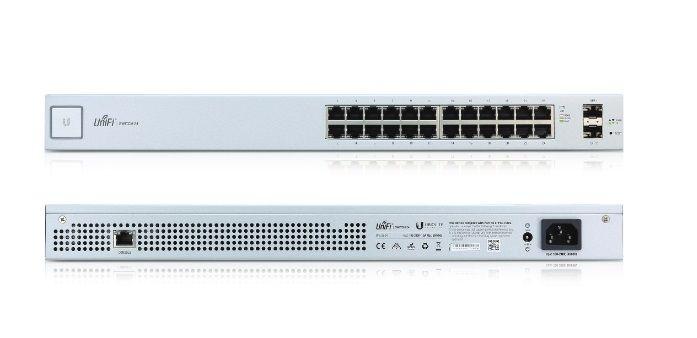 UBIQUITI SWITCH US-24-BR 24P RJ45 + 2P SFP 1.25GB UNIFI  - TECTECH BRASIL COMPUTERS