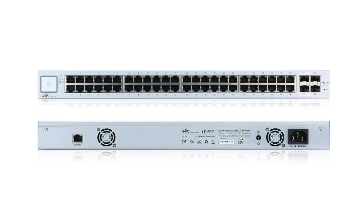 UBIQUITI US-48-BR UNIFI SWITCH 48P GB RJ45+2P SFP 1.25+2 SFP  - TECTECH BRASIL COMPUTERS
