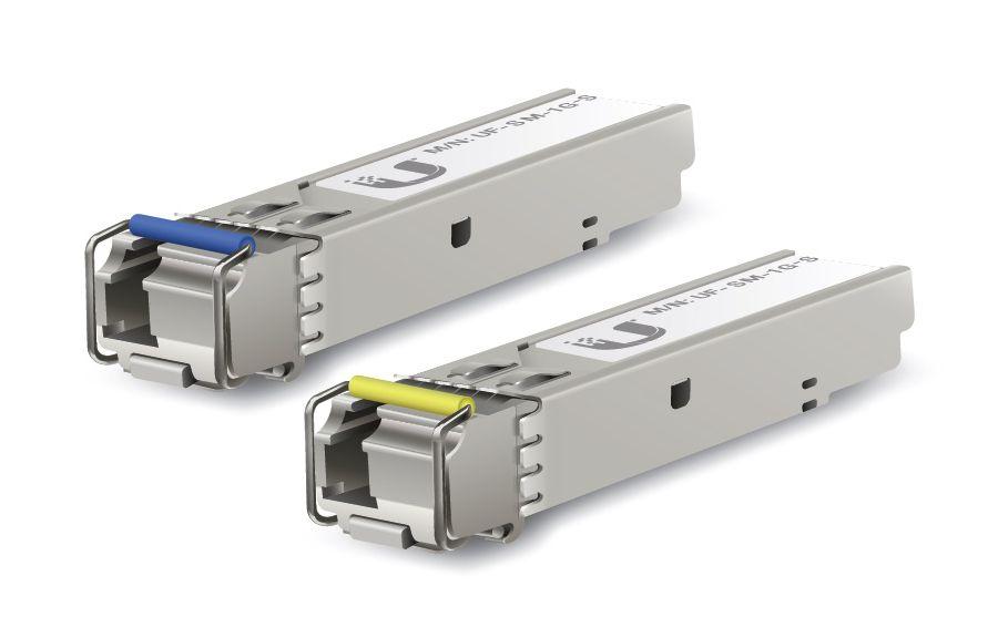 UBNT UF-SM-1G-S PAR SFP+ 1.25G 3KM LC BIDI 1310NM-1550NM  - TECTECH BRASIL COMPUTERS