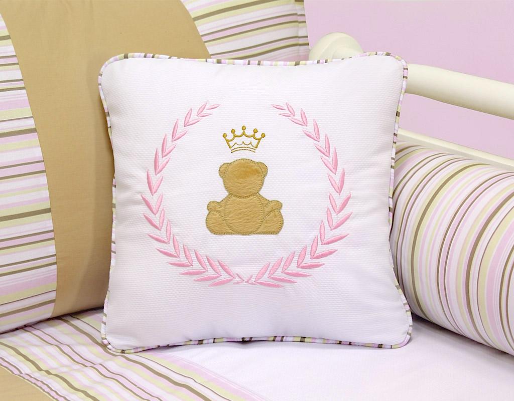 Almofada para decoração bordada - Col. Princess Charlotte