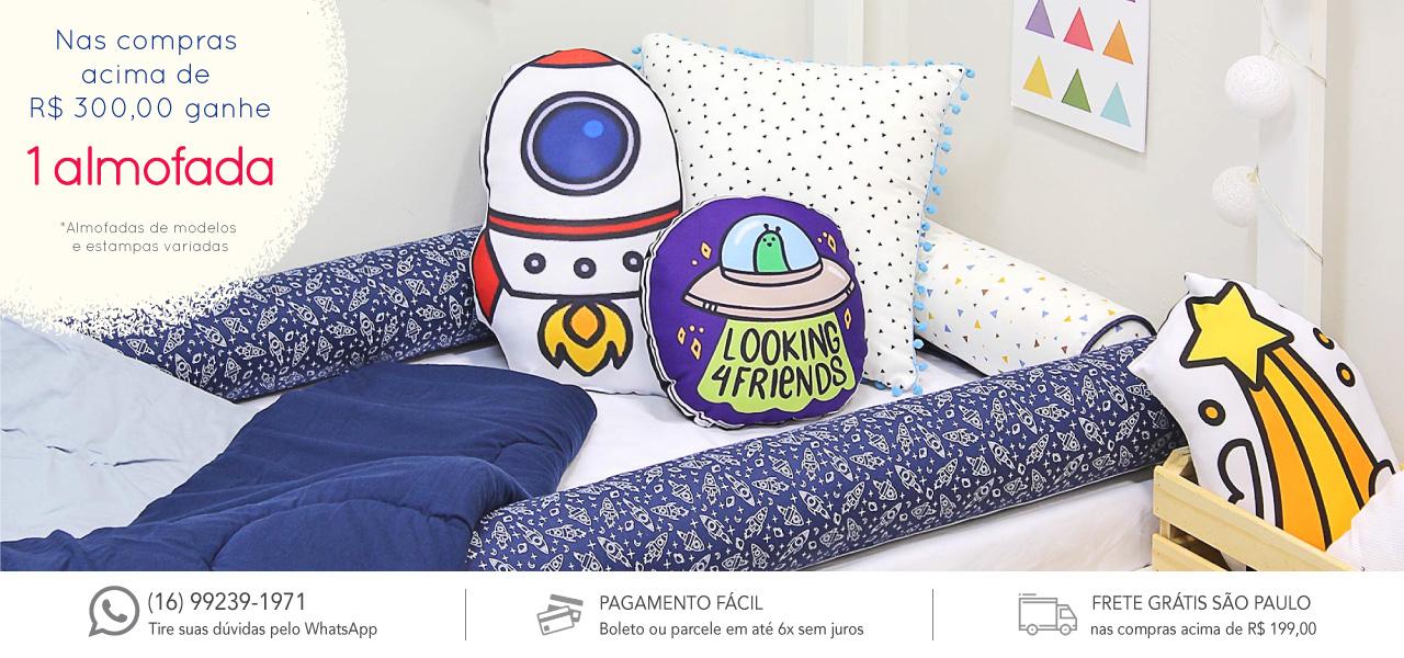 nas compras acima de r$ 300,00 ganhe uma almofada!