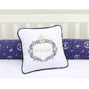 Almofada para decoração bordada - Col. Reino Encantado