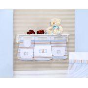 Porta Fraldas para Bebê 3 peças Pequeno Urso Azul