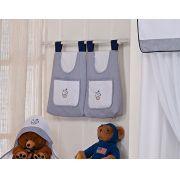 Porta Fraldas para Bebê 2 peças - Col. Ursinho Navegador
