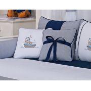 Almofada para decoração bordada - Col. Ursinho Navegador