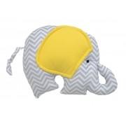 Almofada Elefante Chevron Cinza e Amarelo