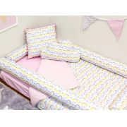 cd4be8f133 Edredom para Mini Cama Dupla Face Arco Íris Rosa
