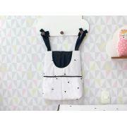 Porta Fraldas para Bebê 1 peça Triângulo Preto e Branco