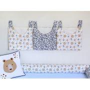 Porta Fraldas para Bebê 3 peças Urso Marinho