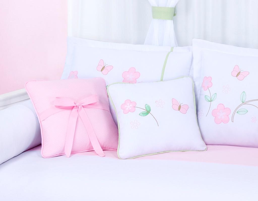 Almofada para decoração bordada - Col. Cia das Flores