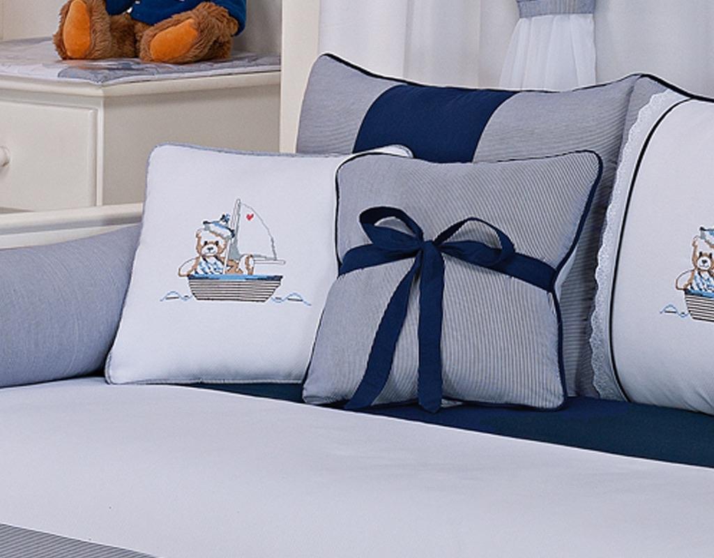 Almofada para decoração com laço - Col. Ursinho Navegador