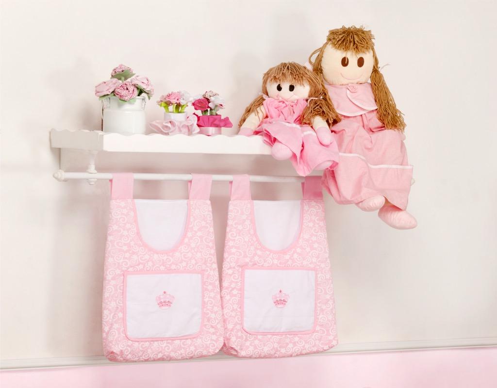 Porta Fraldas para Bebê 2 peças - Col. Coroa Encantada
