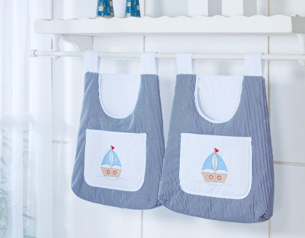 Porta Fraldas para Bebê 2 peças - Col. Marítimo