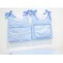 Porta Fraldas para Bebê 2 peças Arthur Azul