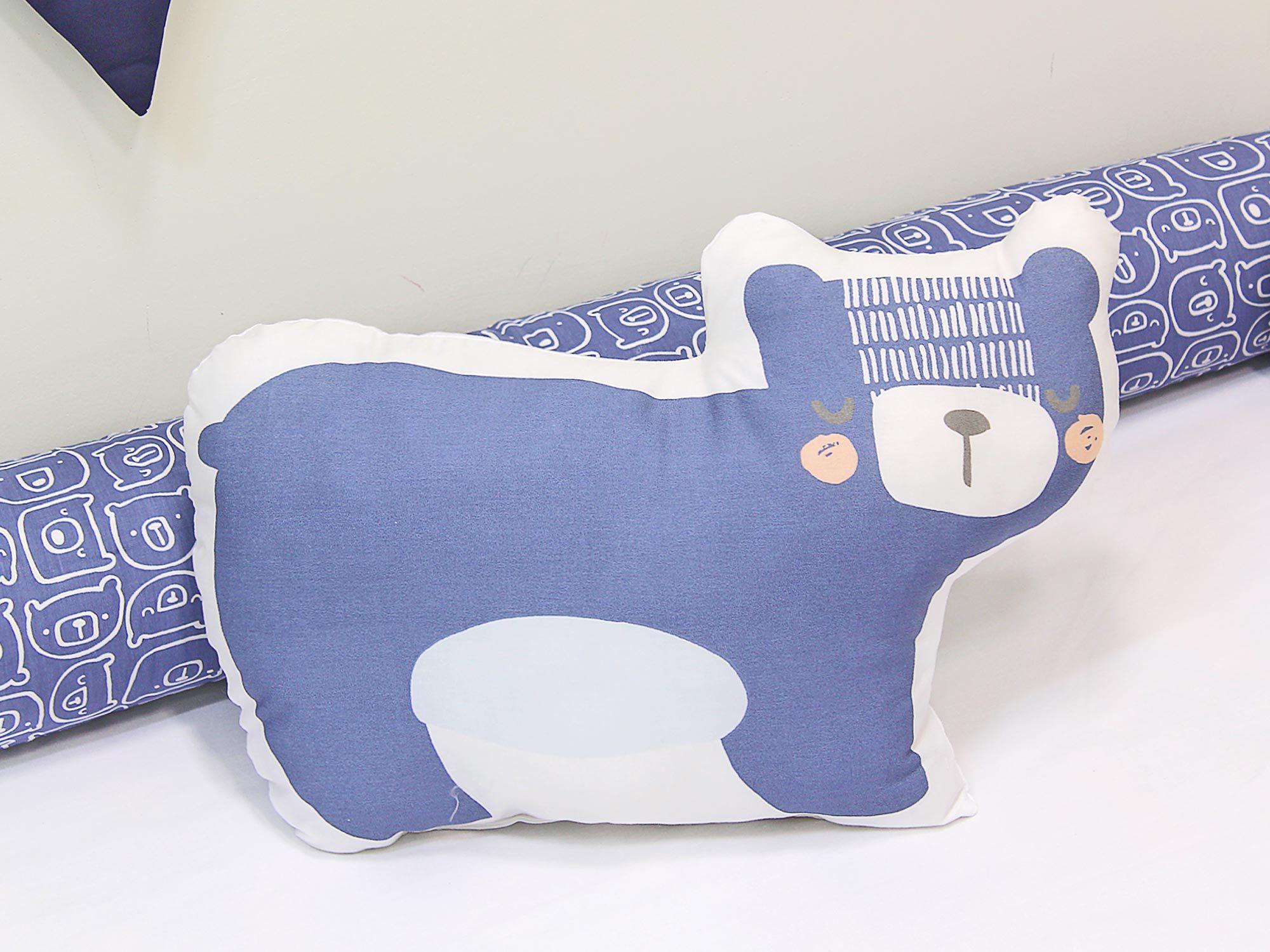 Almofada Toy Urso Escandinavo Azul