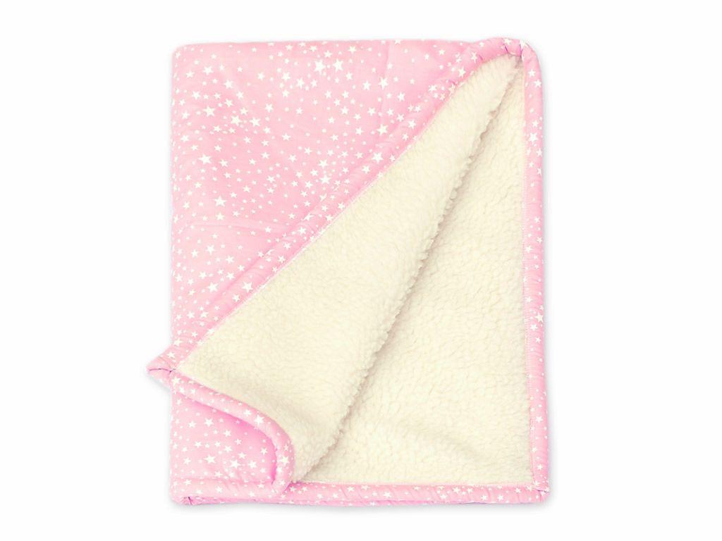 Cobertor Bebê Estrelinhas Rosa
