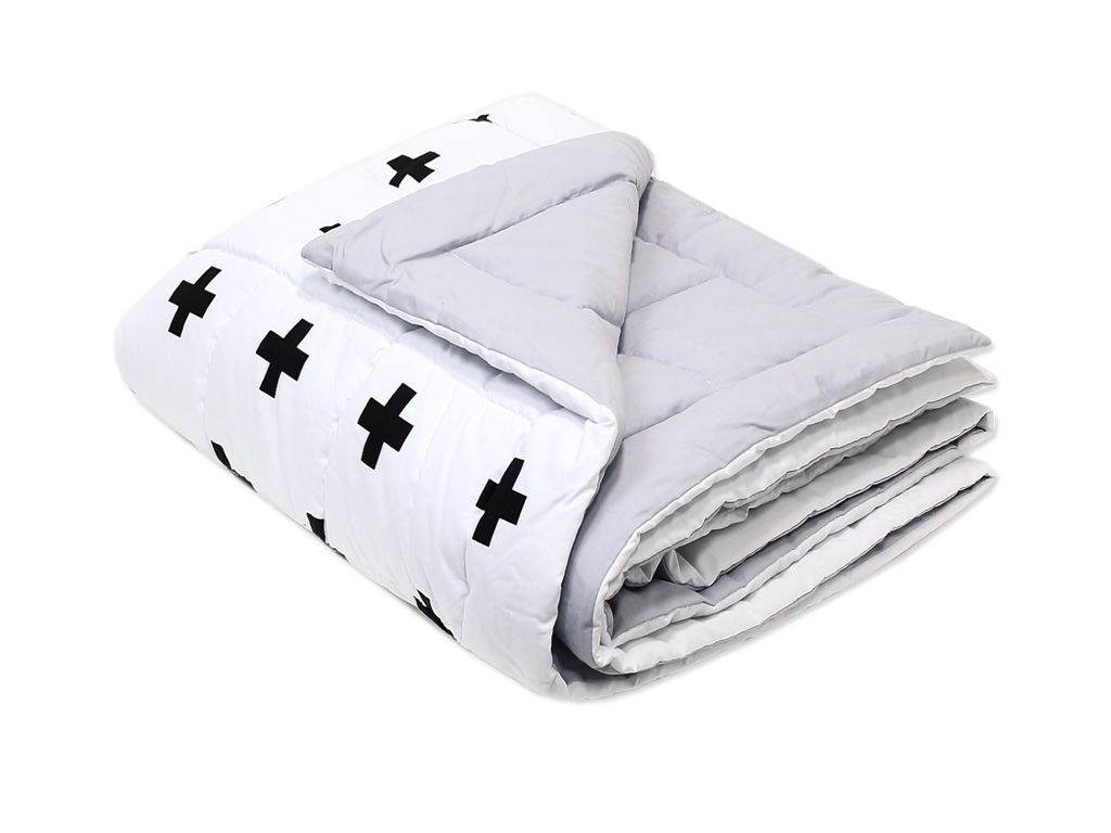 Edredom para Mini Cama Dupla Face Black Cross