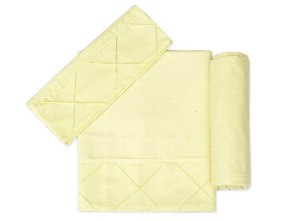 Lençol para Mini Cama 3 peças 100 % Algodão Amarelo
