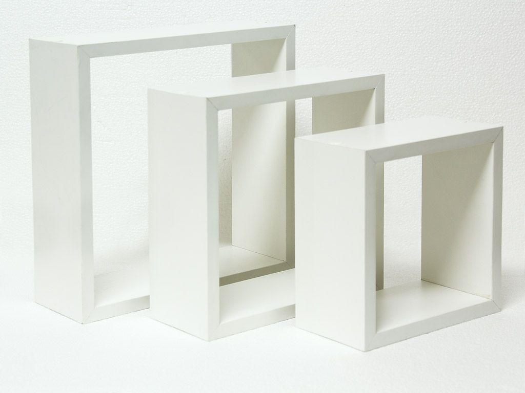Nicho de Madeira 3 peças Branco